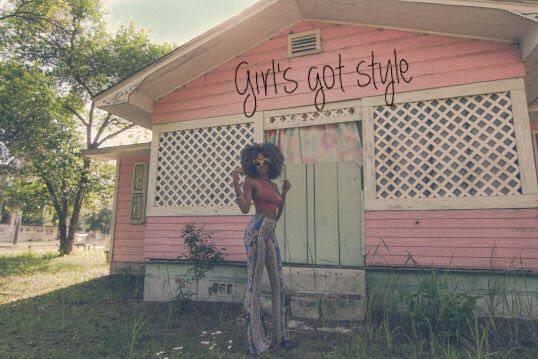 Girl's got style!